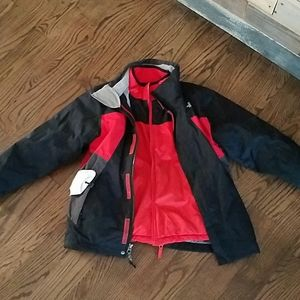 10 12 The North Face reversible jacket boy